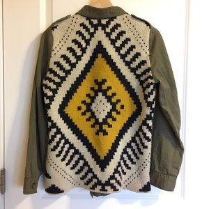 Mine Anthropology tribal back military jacket S